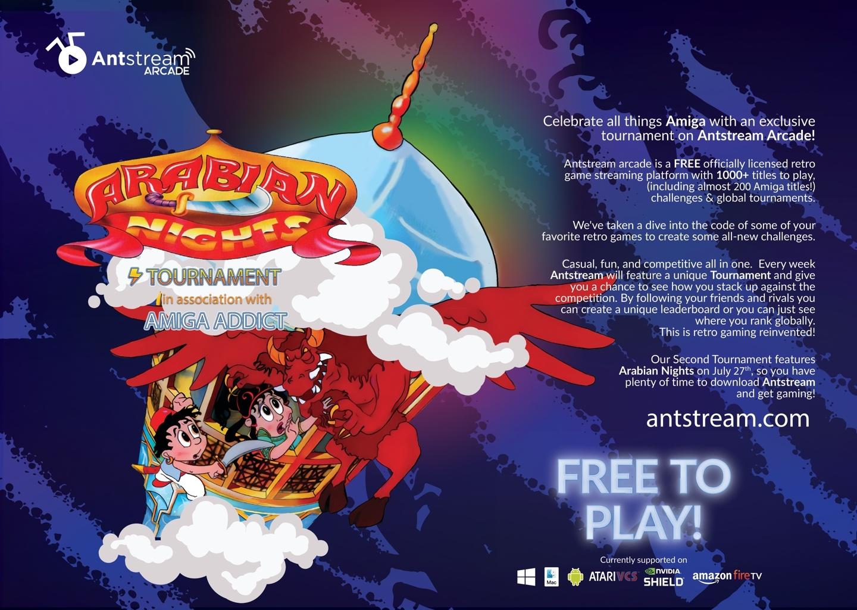 Arabian Nights Amiga Antstream Arcade Tournament